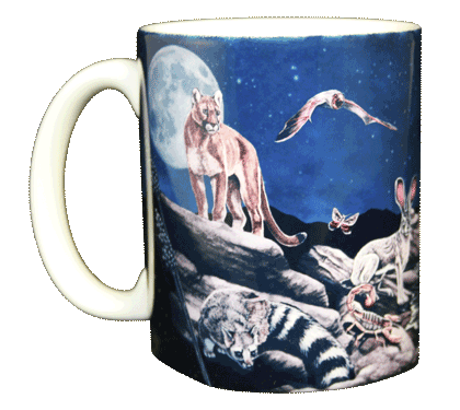 Western Nightlife Ceramic Mug  - Front