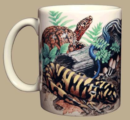 Backyard Herps Ceramic Mug - Front