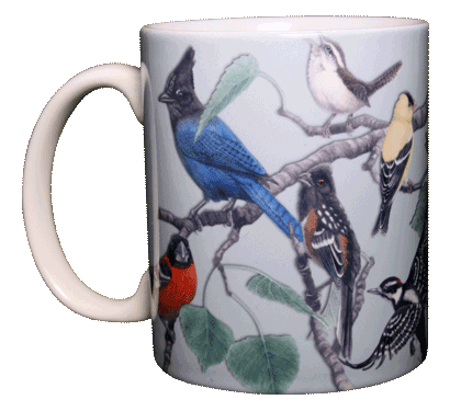 Western Songbirds Ceramic Mug - Front