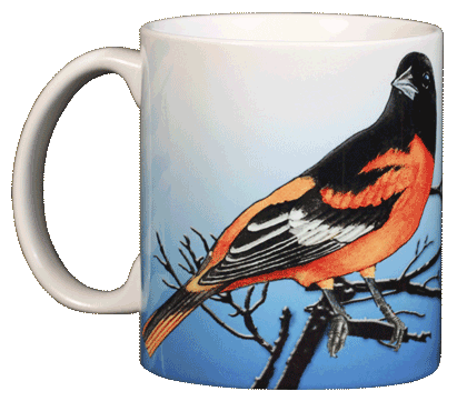 Baltimore Oriole Ceramic Mug
