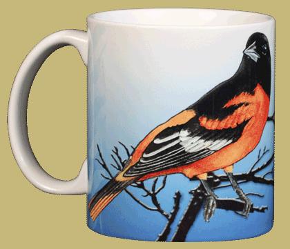 Baltimore Oriole Ceramic Mug - Front