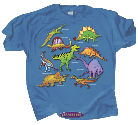 Dinosaur Glitter Youth T-shirt - Front