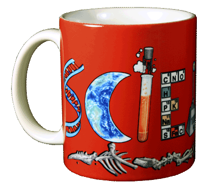 Elemental Science! Ceramic Mug - Front
