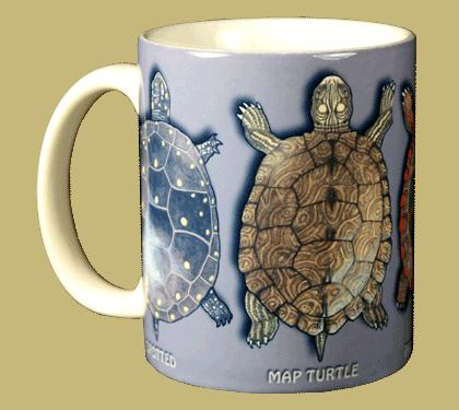 Turtle Circle Ceramic Mug - Front