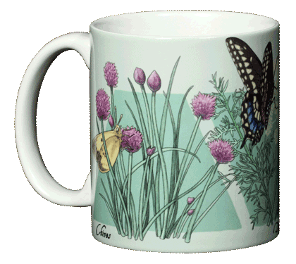 Herb Sampler Ceramic Mug - Front