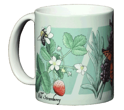 Strawberry, Lavender, Thyme Ceramic Mug - Front