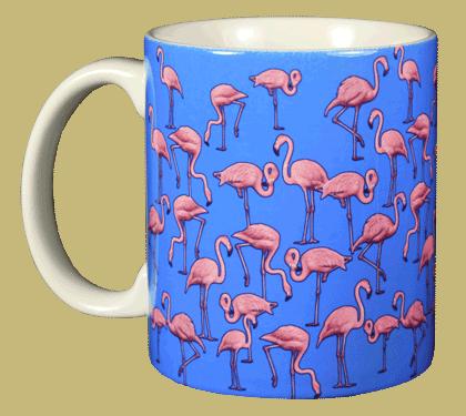 Flamingo Wrap Ceramic Mug - Front