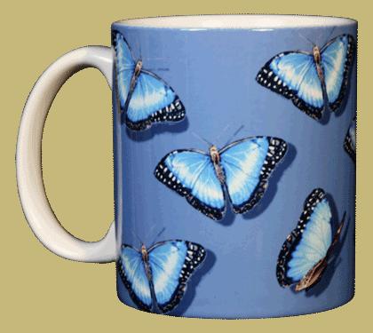 Morpho Glitter Ceramic Mug - Front