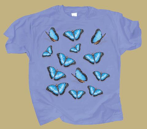 Morpho Glitter Adult T-shirt - Front