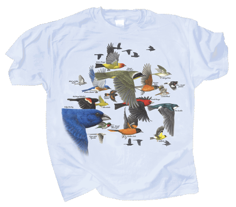 Bird Migration Adult T-shirt - Front