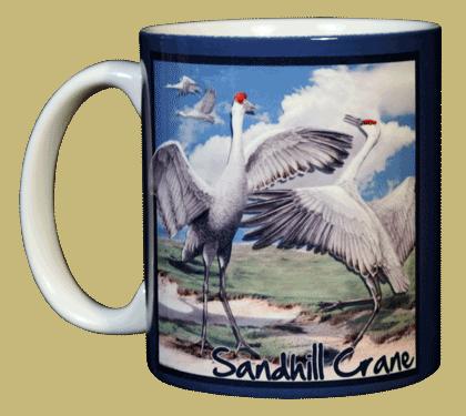 Sandhill Cranes Ceramic Mug - Front