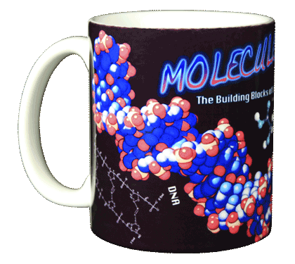 Molecules Ceramic Mug - Front