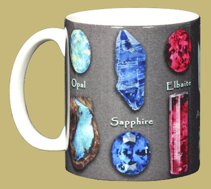 Gem Stones Ceramic Mug - Front