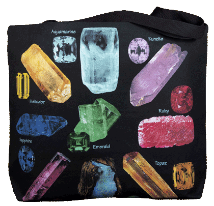 Gem Stones Canvas Tote