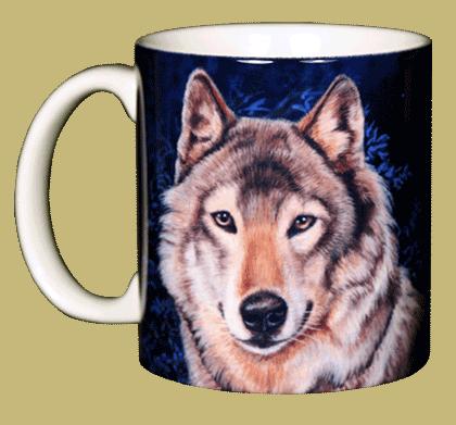 Lone Wolf Ceramic Mug - Front