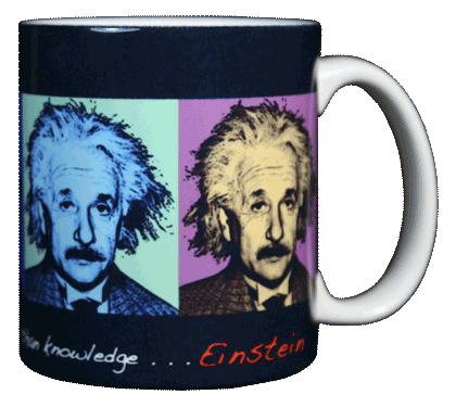 Imagine Einstein Ceramic Mug - Back