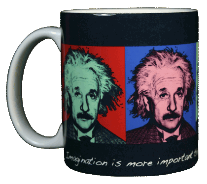 Imagine Einstein Ceramic Mug - Front