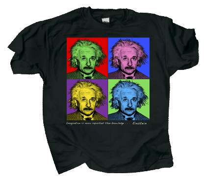 Imagine Einstein Adult T-shirt