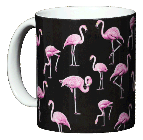 Flamingos Ceramic Mug - Front
