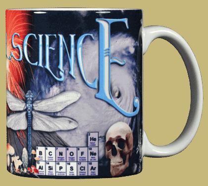 Natural Science Ceramic Mug - Back