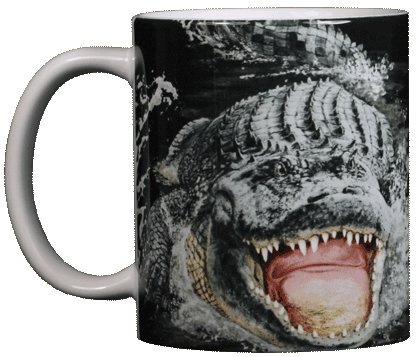 Gator Encounter Ceramic Mug - Front