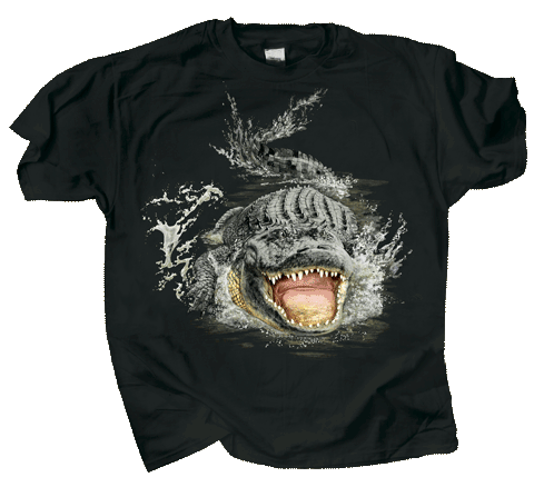 Gator Encounter Adult T-shirt - Front