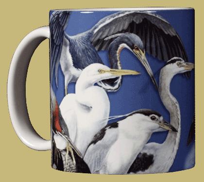 Wading Birds Ceramic Mug - Front