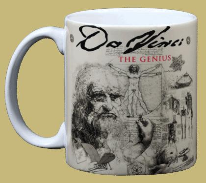 DaVinci Ceramic Mug - Front