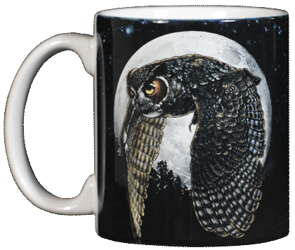 Hunter's Moon Ceramic Mug - Front