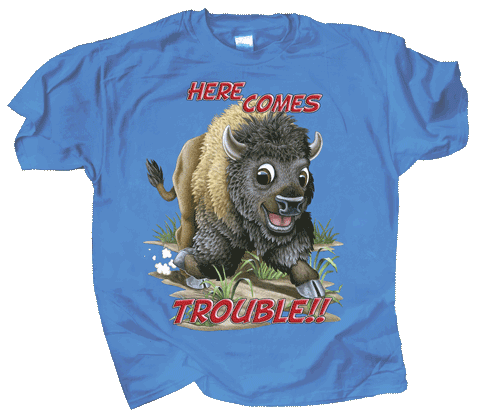 Buffalo Trouble Youth T-shirt - Front