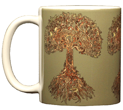 Tree of Life Ceramic Mug - Front