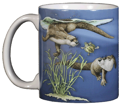 Otter Splash Ceramic Mug - Front