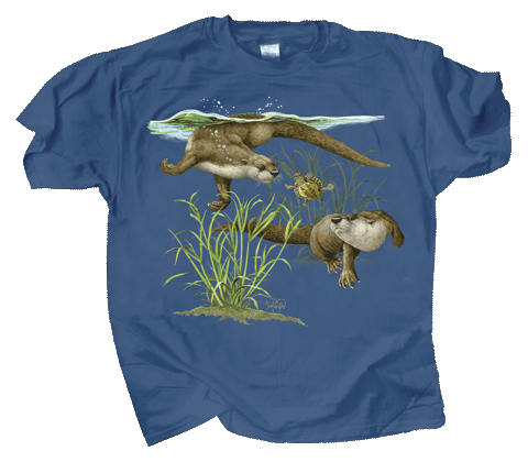 Otter Splash Youth T-shirt - Front