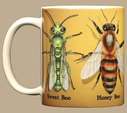 Bee Circle Ceramic Mug - Front