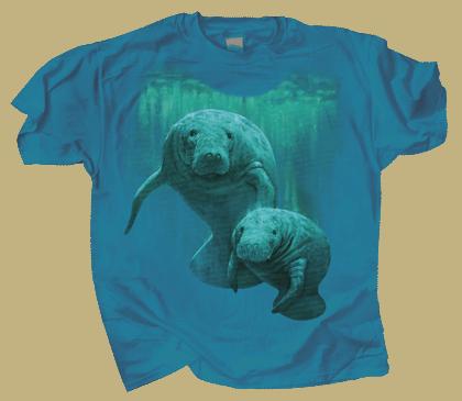 Manatee Duet Adult T-shirt