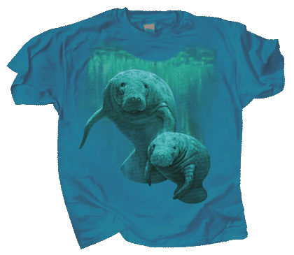 Manatee Duet Adult T-shirt - Front