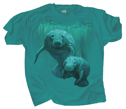 Manatee Duet Youth T-shirt - Front