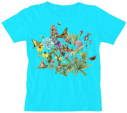 Roadside Flowers Ladies Scoop Neck Tee