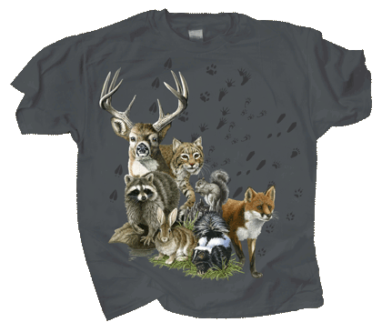 Forest Trax Adult T-shirt - Front