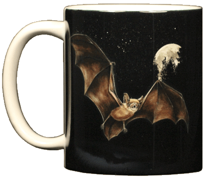 Moon Bat Ceramic Mug - Front