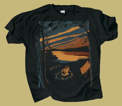 Campfire Life Adult T-shirt