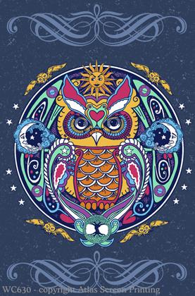 "Owl Hex 2"" X 3"" Magnet"