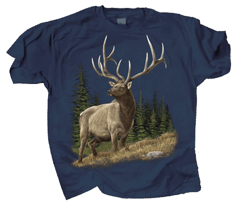 Elk Encounter Adult T-shirt - Front