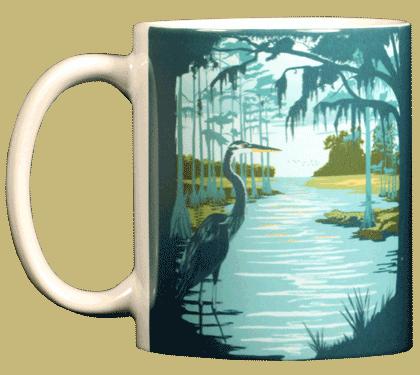 Swamp Life Ceramic Mug - Front
