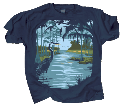 Swamp Life Adult T-shirt