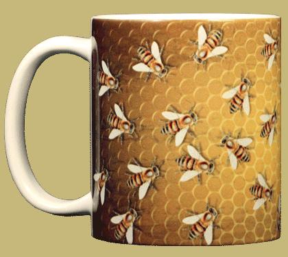Bee Hive Ceramic Mug - Front
