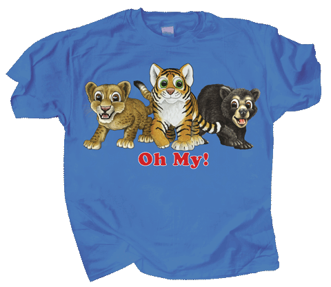 Cubs! Oh My! Youth T-shirt - Front