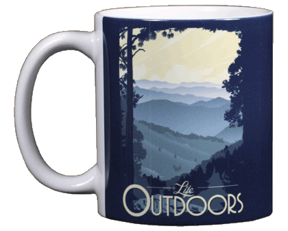 Mountain Life Ceramic Mug - Front