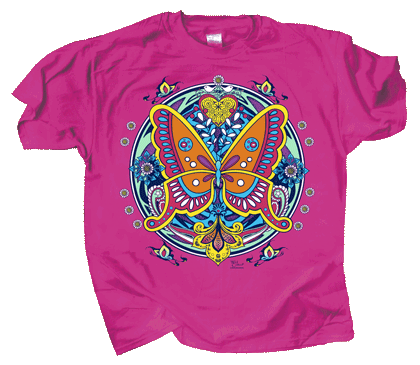 Butterfly Hex Adult T-shirt