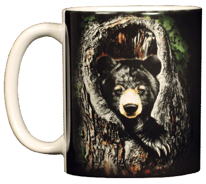 Sleepy Bear Ceramic Mug - Front